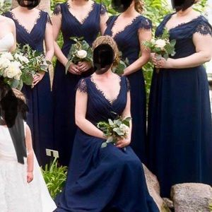 Bridesmaid Gown JJs House Size 6 Dark Navy